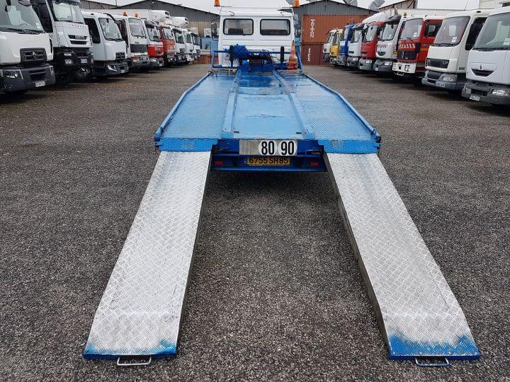 Camion porteur Renault S Plateau porte voiture 130.09 A - PORTE VOITURE / MATERIEL BLANC et BLEU - 6