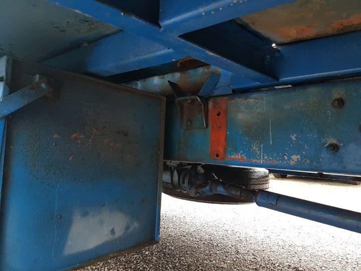 Camion porteur Renault S Plateau porte voiture 130.09 A - PORTE VOITURE / MATERIEL BLANC et BLEU - 13