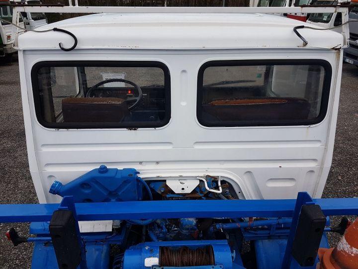 Camion porteur Renault S Plateau porte voiture 130.09 A - PORTE VOITURE / MATERIEL BLANC et BLEU - 14