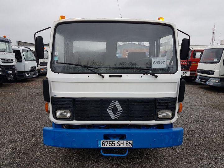 Camion porteur Renault S Plateau porte voiture 130.09 A - PORTE VOITURE / MATERIEL BLANC et BLEU - 15