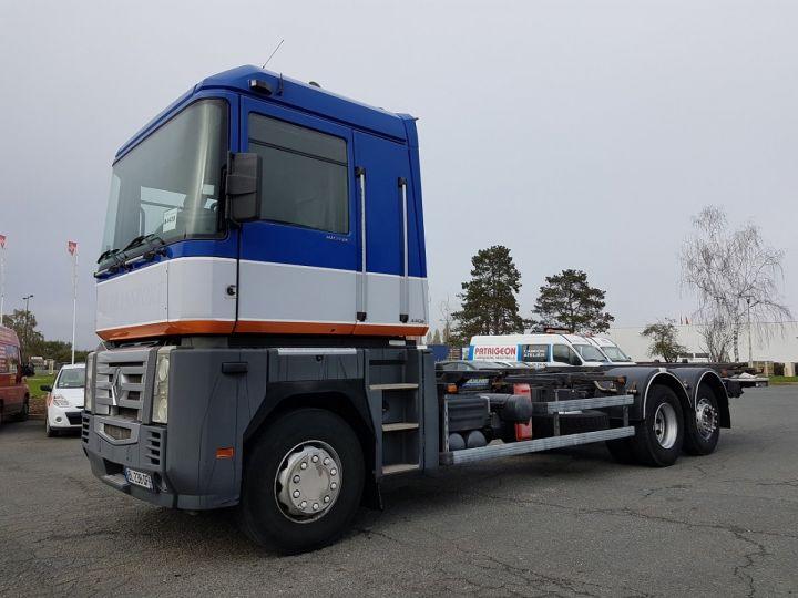 Camion porteur Renault Magnum Porte container 440dxi.26 6x2 S BLEU-GRIS-ORANGE - 1