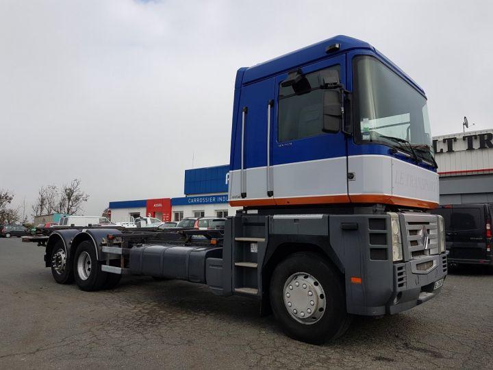 Camion porteur Renault Magnum Porte container 440dxi.26 6x2 S BLEU-GRIS-ORANGE - 4