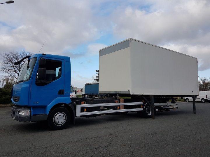 Camion porteur Renault Midlum Porte container 220dxi.12 CAISSE MOBILE + Hayon BLEU et BLANC - 1