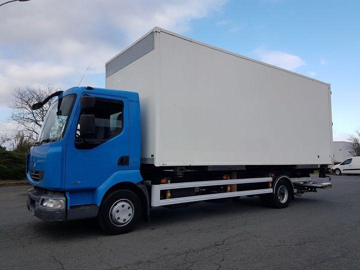 Camion porteur Renault Midlum Porte container 220dxi.12 CAISSE MOBILE + Hayon BLEU et BLANC - 2