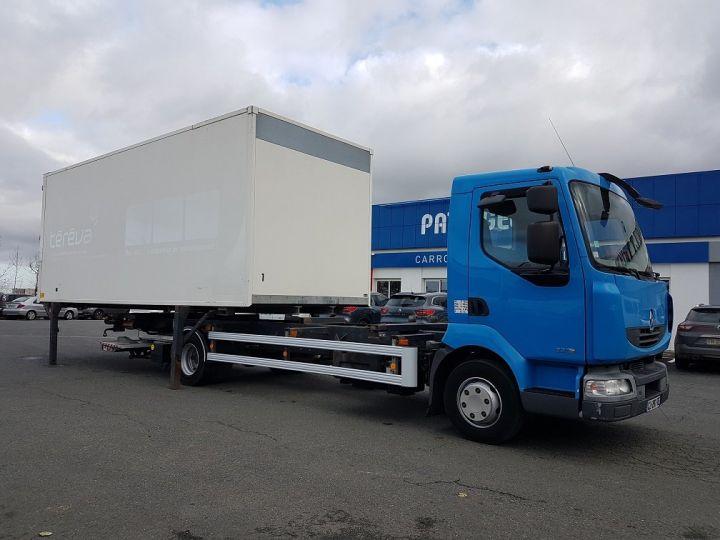 Camion porteur Renault Midlum Porte container 220dxi.12 CAISSE MOBILE + Hayon BLEU et BLANC - 6