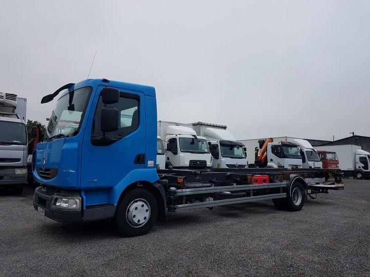 Camion porteur Renault Midlum Porte container 220dxi.12 PORTE-CAISSE 6m80 BLEU - 1