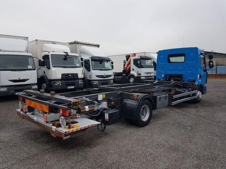 Camion porteur Renault Midlum Porte container 220dxi.12 PORTE-CAISSE 6m80 BLEU - 2