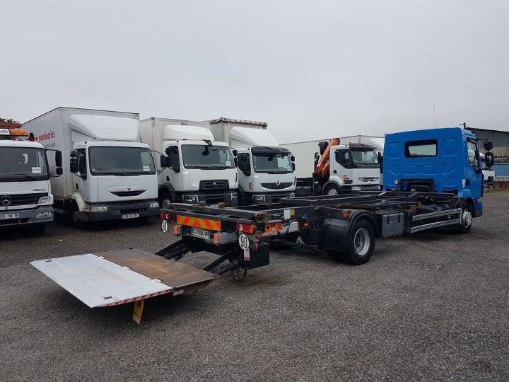 Camion porteur Renault Midlum Porte container 220dxi.12 PORTE-CAISSE 6m80 BLEU - 3