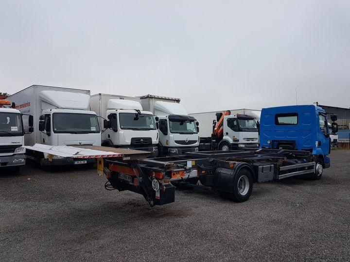 Camion porteur Renault Midlum Porte container 220dxi.12 PORTE-CAISSE 6m80 BLEU - 4