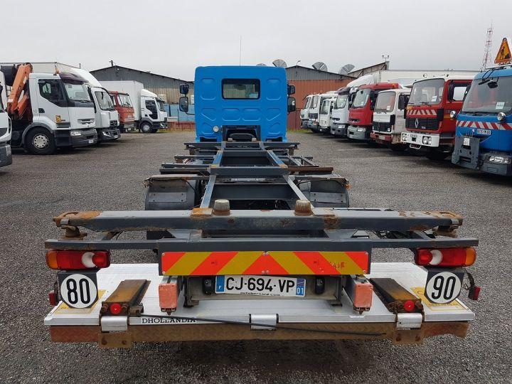 Camion porteur Renault Midlum Porte container 220dxi.12 PORTE-CAISSE 6m80 BLEU - 7