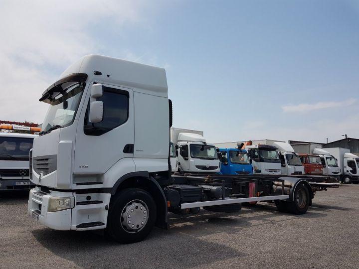 Camion porteur Renault Premium Porte container 410dxi.19 CAISSE MOBILE 7m80 BLANC - 1