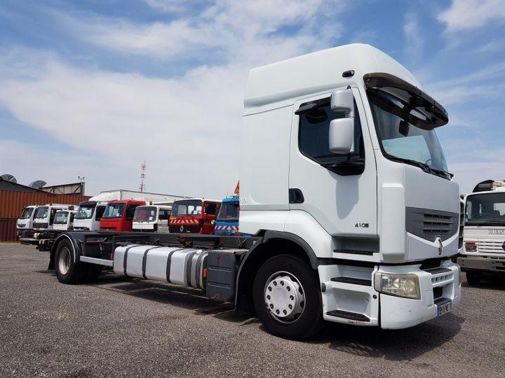 Camion porteur Renault Premium Porte container 410dxi.19 CAISSE MOBILE 7m80 BLANC - 5