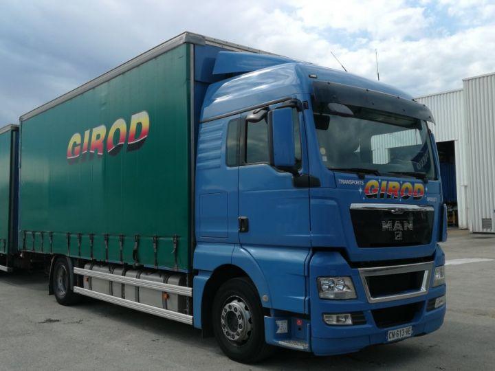 Camion porteur Man TGX Rideaux coulissants TGX 18.440 BLEU - 1