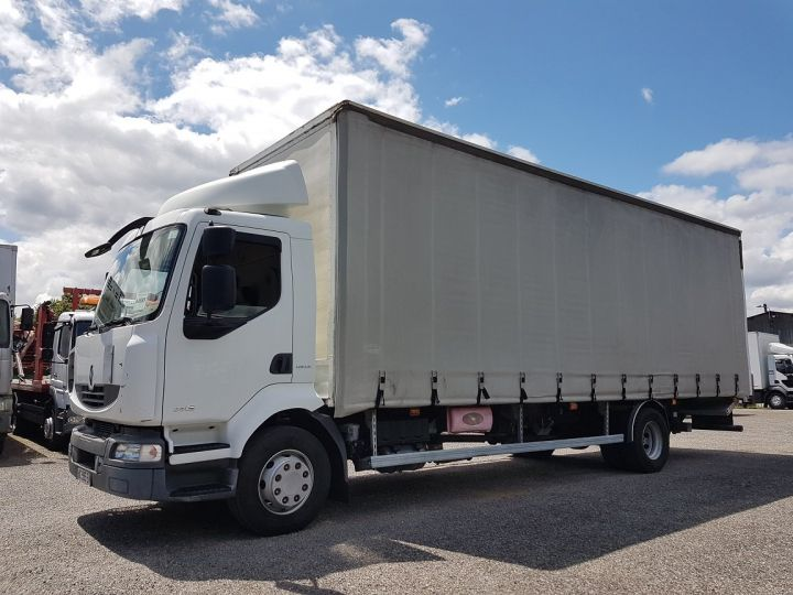 Camion porteur Renault Midlum Rideaux coulissants 240dxi.16 - P.L.S.C. 8m10 BLANC - GRIS - 1