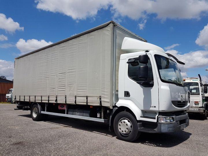 Camion porteur Renault Midlum Rideaux coulissants 240dxi.16 - P.L.S.C. 8m10 BLANC - GRIS - 4