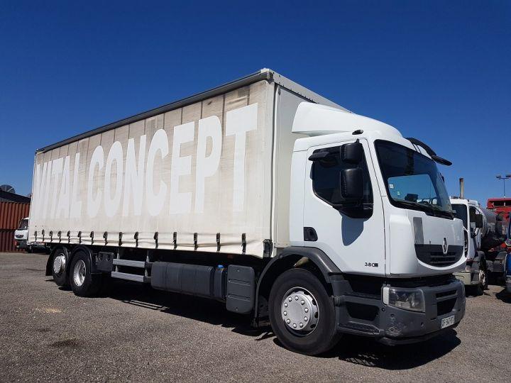 Camion porteur Renault Premium Rideaux coulissants 380dxi.26 6x2 - P.L.S.C. pour chariot embarqué BLANC - 3