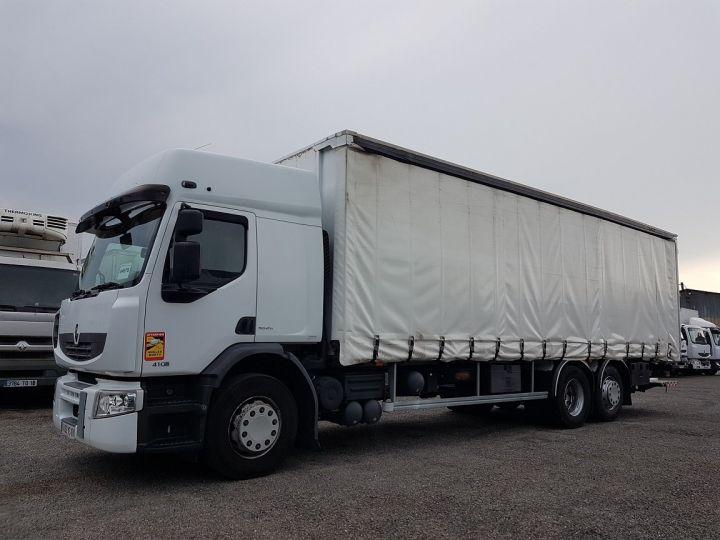 Camion porteur Renault Premium Rideaux coulissants 410dxi.26 6x2 S PRIVILEGE BLANC - 1