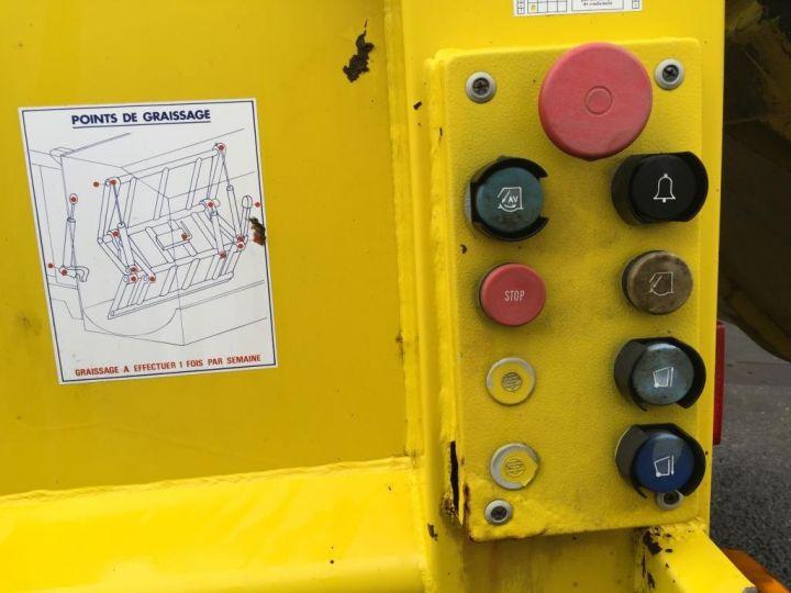 Camión Spitzer Recolector compactador CAISSON BENNE A ORDURES MENAGERES SEMAT JAUNE - 8