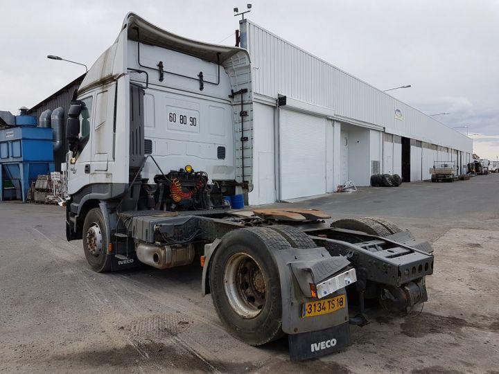 Camion tracteur Iveco Stralis AS 420 - Pour pièces (panne BV + chocs cabine) BLANC Occasion - 4