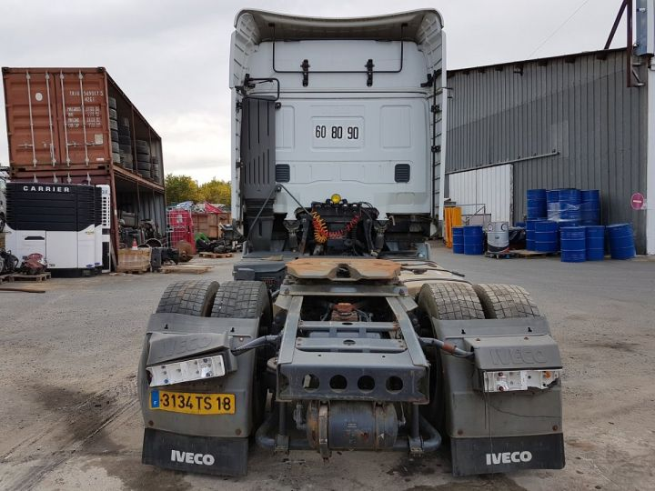 Camion tracteur Iveco Stralis AS 420 - Pour pièces (panne BV + chocs cabine) BLANC Occasion - 5
