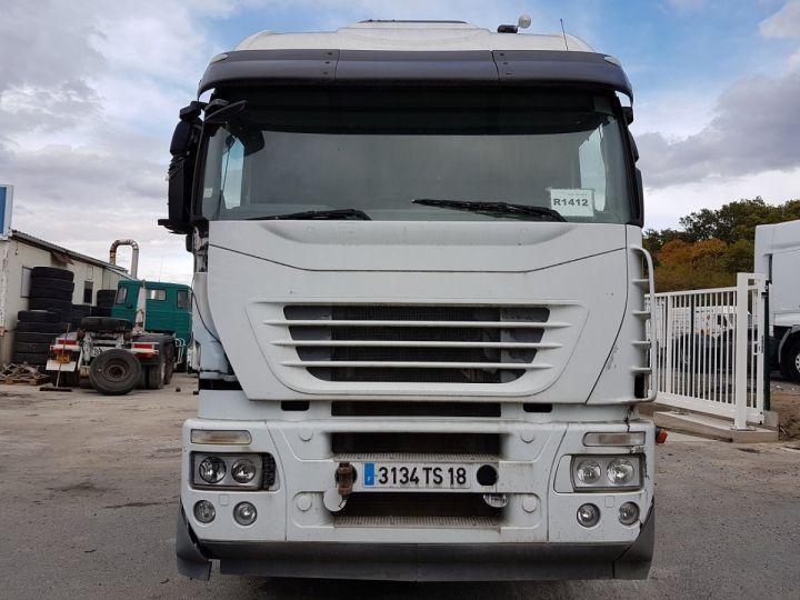 Camion tracteur Iveco Stralis AS 420 - Pour pièces (panne BV + chocs cabine) BLANC Occasion - 6