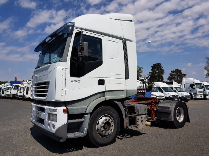 Camion tracteur Iveco Stralis AS 430 - ZF16 MANUAL + INTARDER BLANC Occasion - 1