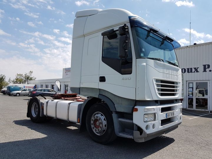 Camion tracteur Iveco Stralis AS 430 - ZF16 MANUAL + INTARDER BLANC Occasion - 3