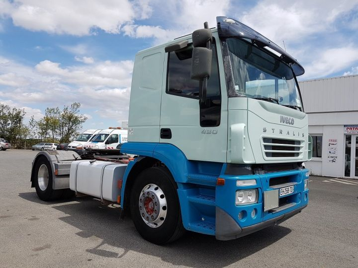 Camion tracteur Iveco Stralis AT 430 BLEU - VERT Occasion - 3