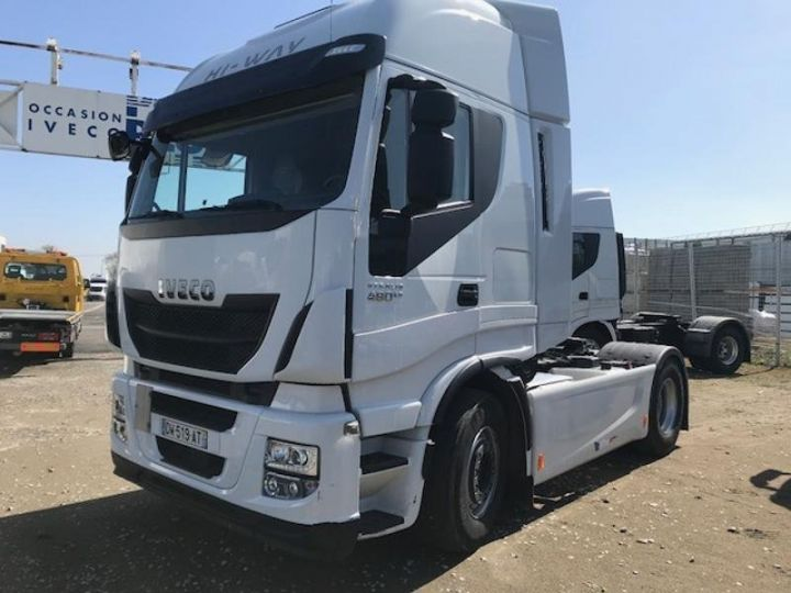 Camion tracteur Iveco Stralis Hi-Way AS440S48 TP E6 Blanc - 1