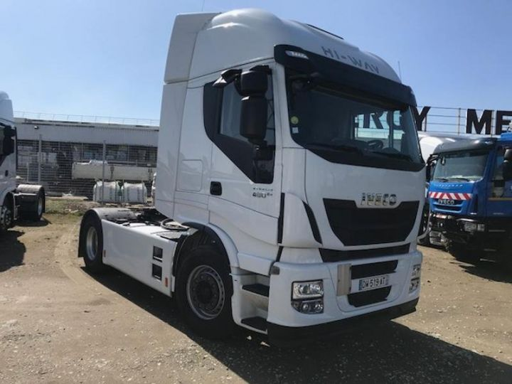 Camion tracteur Iveco Stralis Hi-Way AS440S48 TP E6 Blanc - 4