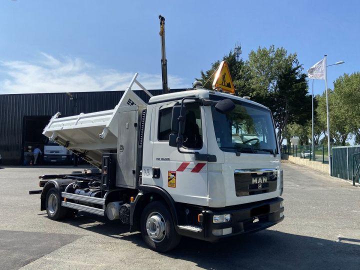 Camion tracteur Man TGL 10.220 BI BENNE GRUE BLANC - 2