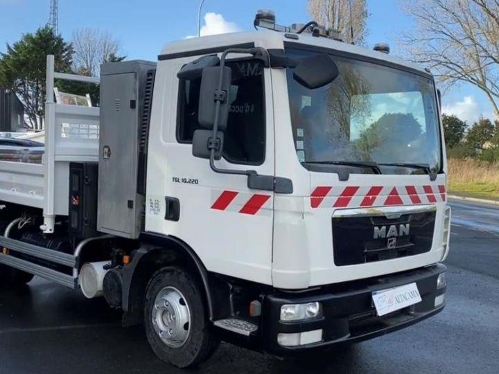 Camion tracteur Man TGL 10.220 BI BENNE GRUE BLANC - 5
