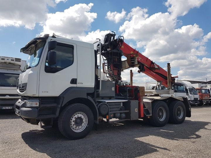 Camion tracteur Renault Kerax 520dxi.35 6x4 HEAVY - GRUMIER BLANC - GRIS - ROUGE - 1