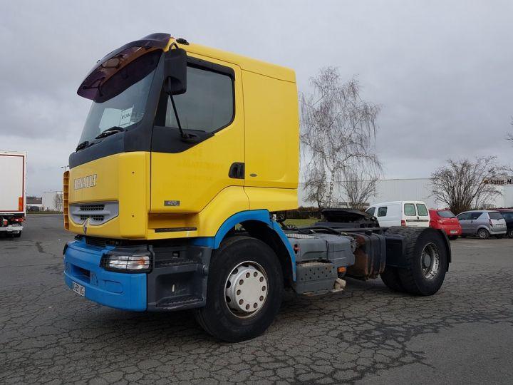 Camion tracteur Renault Premium Lander 420dci JAUNE et BLEU Occasion - 1