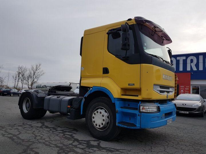 Camion tracteur Renault Premium Lander 420dci JAUNE et BLEU Occasion - 3