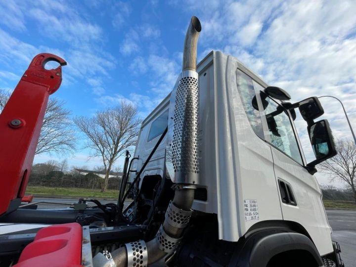 Camion tracteur Scania P 410 6x4 POLYBENNE BRAS AMPLIROLL BOITE AUTOMATIQUE BLANC - 3