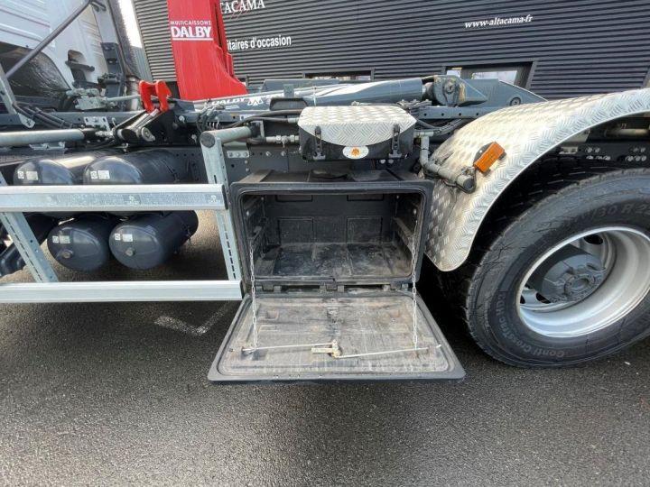 Camion tracteur Scania P 410 6x4 POLYBENNE BRAS AMPLIROLL BOITE AUTOMATIQUE BLANC - 5