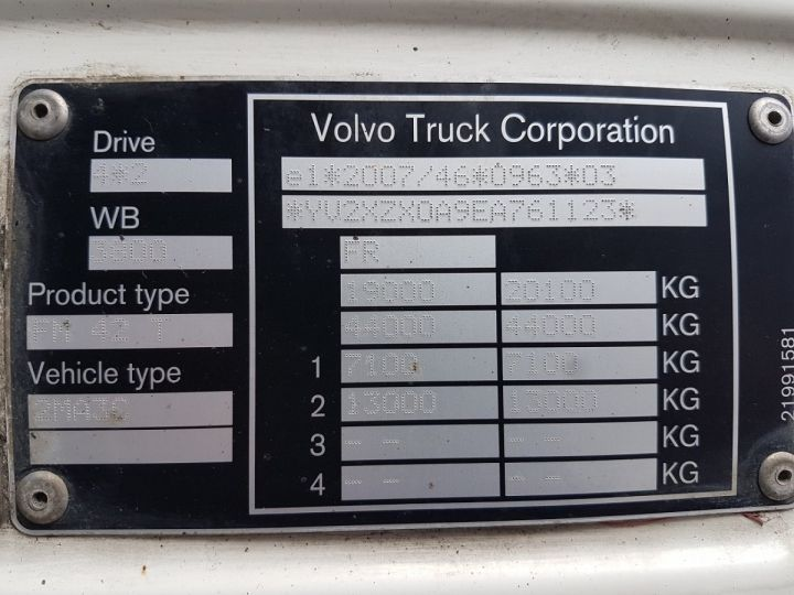 Camion tracteur Volvo FM 450 euro 6 BLANC Occasion - 15