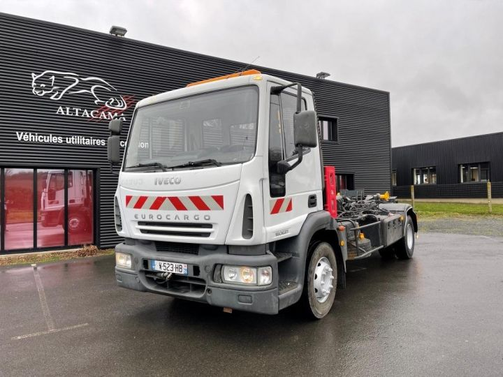 Camión tractor Iveco EuroCargo 160 E21 POLYBENNE BRAS AMPLIROLL BENNE AMOVIBLE AVEC 1 CAISSON  BLANC - 10