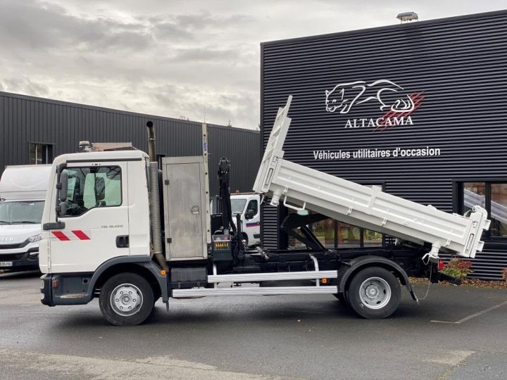 Camión tractor Man TGL 10.220 BI BENNE GRUE BLANC - 7