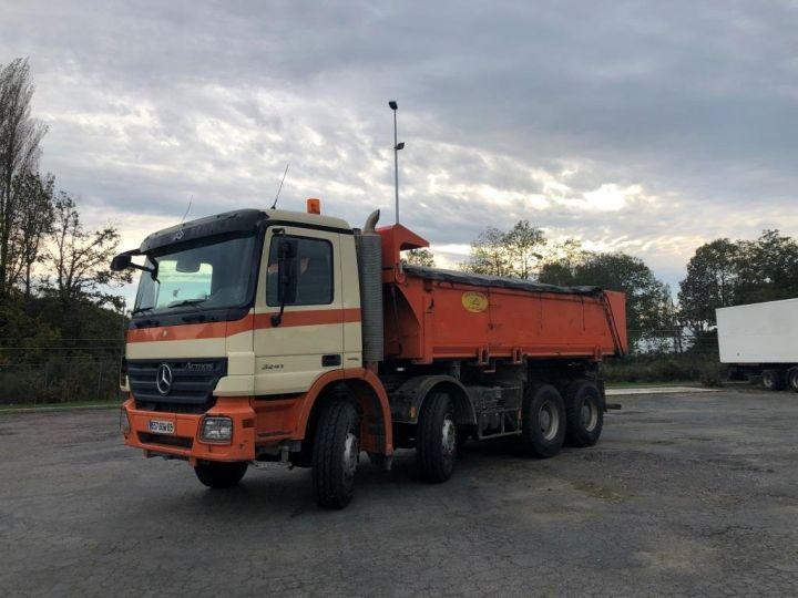 Camión tractor Mercedes Actros 3241 8x4 BI BENNE HYDRAULIQUE ROUGE - 10