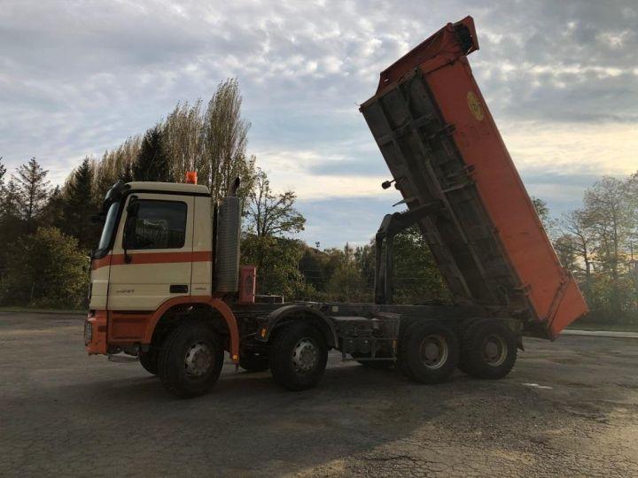 Camión tractor Mercedes Actros 3241 8x4 BI BENNE HYDRAULIQUE ROUGE - 12
