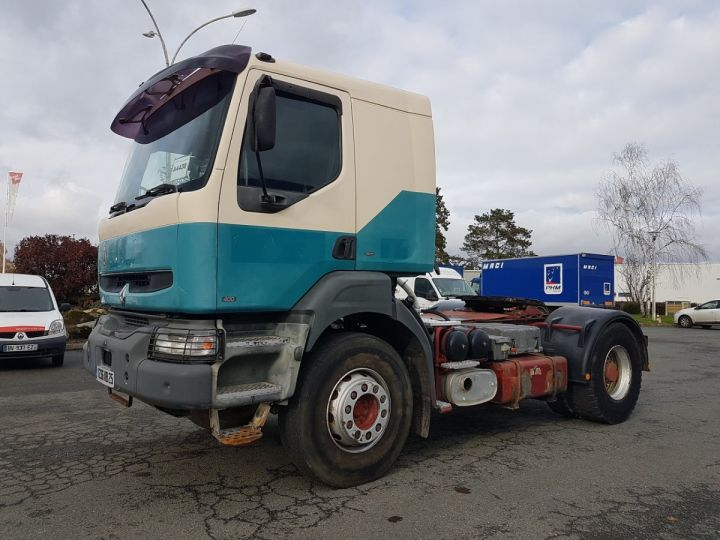 Camión tractor Renault Kerax 400.19 LAMES VERT - BEIGE - 1