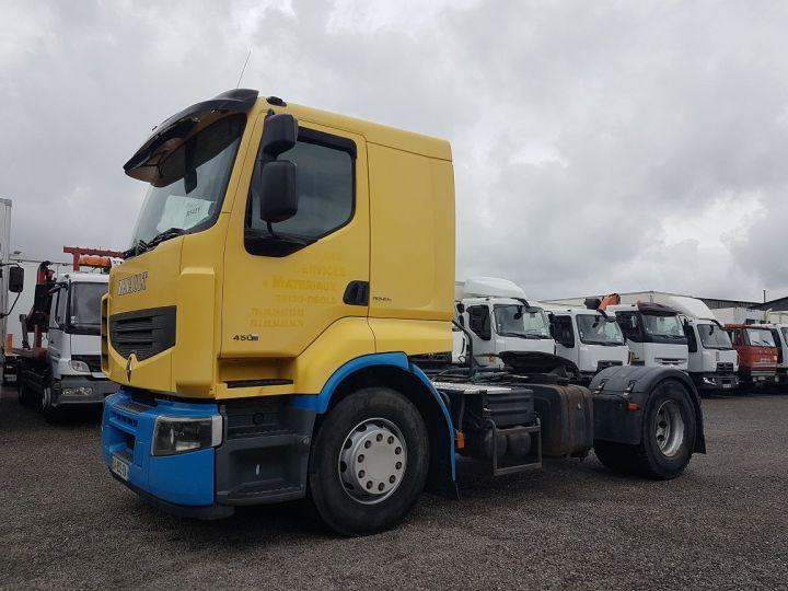 Camión tractor Renault Premium 450dxi - MANUEL + INTARDER JAUNE - BLEU - 1