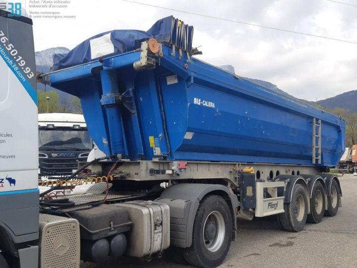 Camión Volquete trasero SEMI-REMORQUE BENNE ALU 3 ESSIEUX  - 2