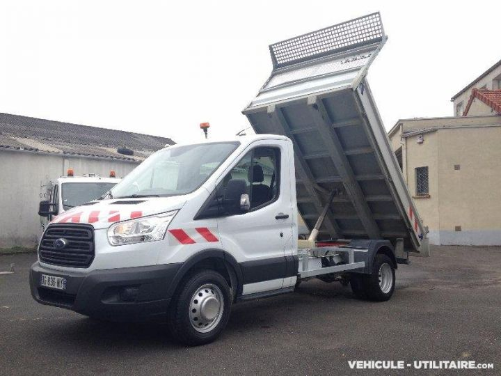 Chassis + body Ford Transit Back Dump/Tipper body custom benne alu 155ch clim blanc - 2