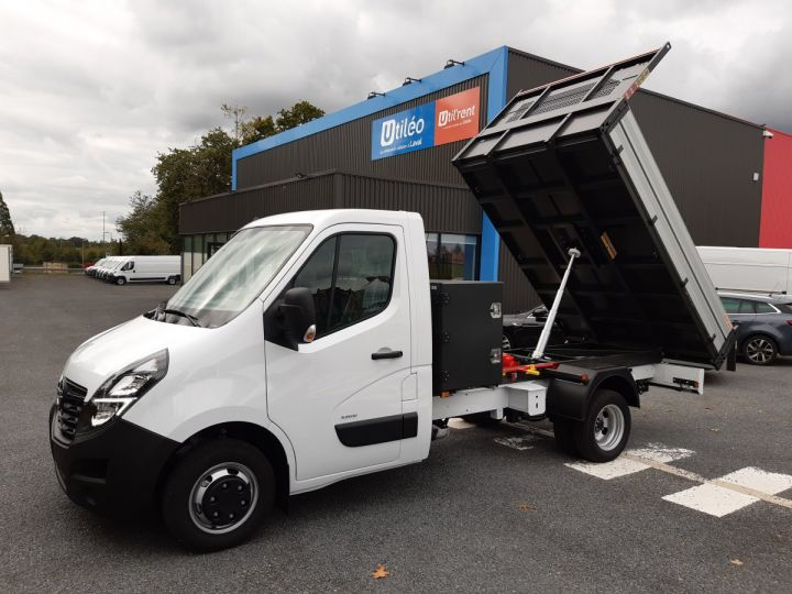 Chassis + body Opel Movano Back Dump/Tipper body ROUES JUMELEES 2.3 CDTI 145CV BENNE ET COFFRE BLANC - 1