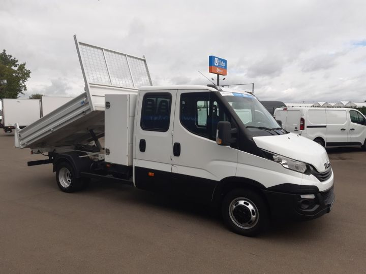 Chassis + body Iveco CF75 Double Cab Back Dump/Tipper body 35C14 BLANC - 2