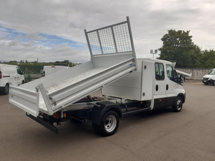 Chassis + body Iveco CF75 Double Cab Back Dump/Tipper body 35C14 BLANC - 3