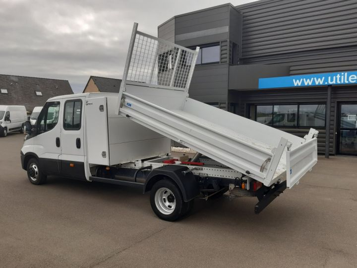 Chassis + body Iveco CF75 Double Cab Back Dump/Tipper body 35C14 BLANC - 4